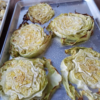 Roasted Green Cabbage Wedges