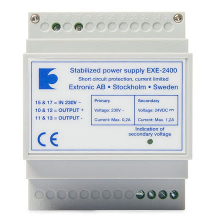 Likriktare EXE-2400 24 VDC 1,5Ah