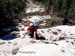 Photo: Kevin on the bottom of the upper ledges.