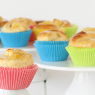 Lemon Curd Muffin Tin Rolls With Yoghurt Glaze
