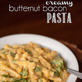 Creamy Butternut Bacon Pasta