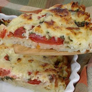 Tomato Hash Brown Quiche.
