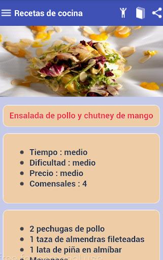 玩免費遊戲APP|下載Recetas Cocina Fácil app不用錢|硬是要APP