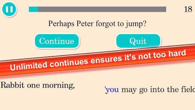 Peter Rabbit Endless Runner apk screenshot