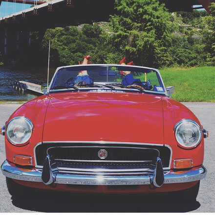 Red 1972 MGB Hire TX