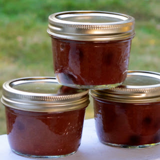 Rhubarb Blueberry Cinnamon Honey Jam