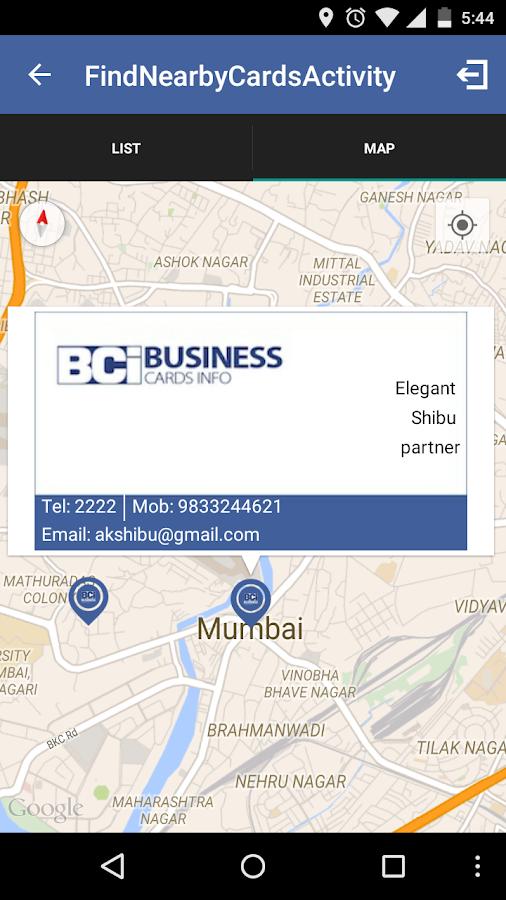 Business Cards Info (BCi)- screenshot