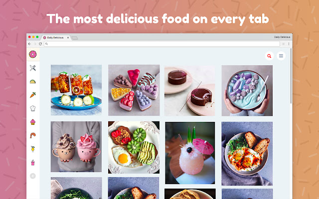 Daily Delicious - New Tab Theme