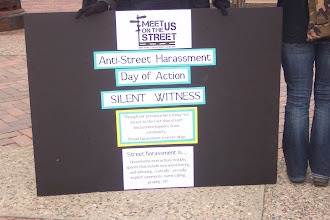 Photo: 4.12.13 Silent Witness to Street Harassment at the University of Iowa