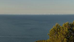 Simulación del parque eólico marino en la zona de Carboneras.
