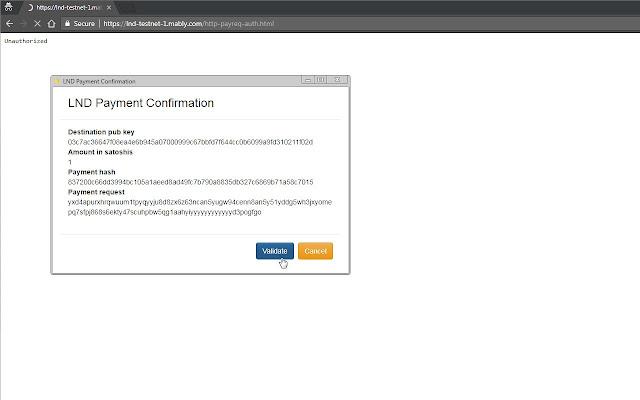 LND Chrome Extension