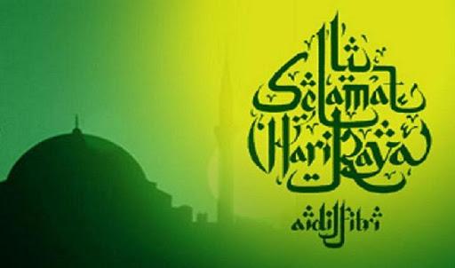 Contoh Background Idul Fitri Ala Model Kini