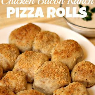 Chicken Bacon Ranch Pizza Rolls.