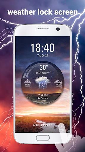 Transparent Live Weather Widge  screenshots 7