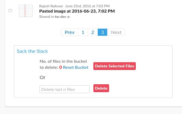Files deleter for slack