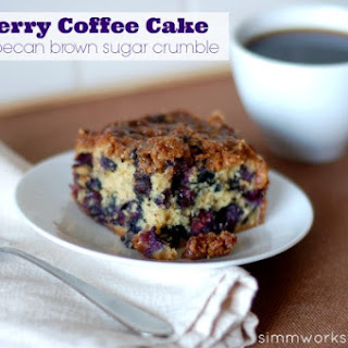 Blueberry Coffee Cake with Pecan Brown Sugar Crumble