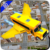 US Flying Bus Pilot Transport:High School Bus 2018 Android APK Download Free By TimeDotTime
