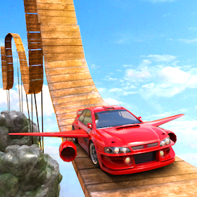 Flying Car Mountain Stunts