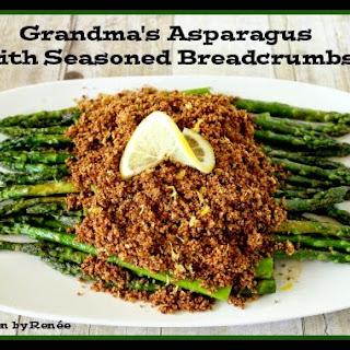 Grandma's Asparagus with Seasoned Breadcrumbs