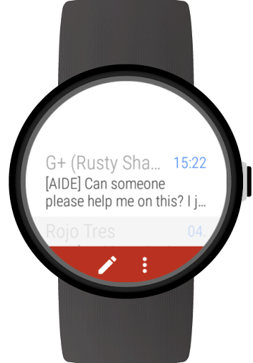 Mail client for Wear OS watches ss1