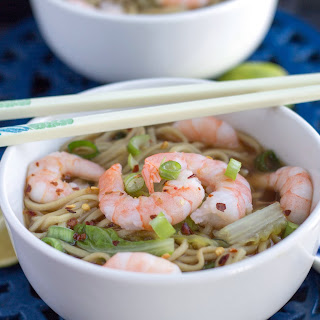 Quick Chinese Shrimp Noodle Soup
