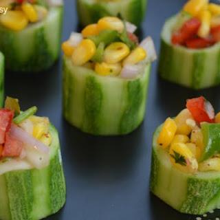 Cucumber Corn Bites