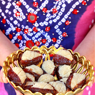 Moroccan Stuffed Dates | Dates Stuffed with Almond Paste.