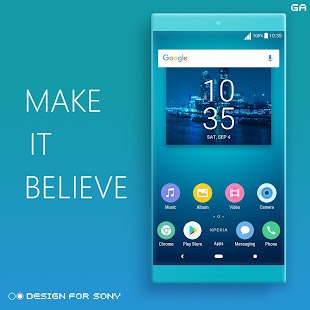 Download LITTLE™ XPERIA Theme | A CYAN  apk screenshot 5