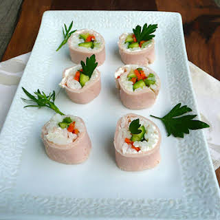 Turkey & Cream Cheese Sushi.