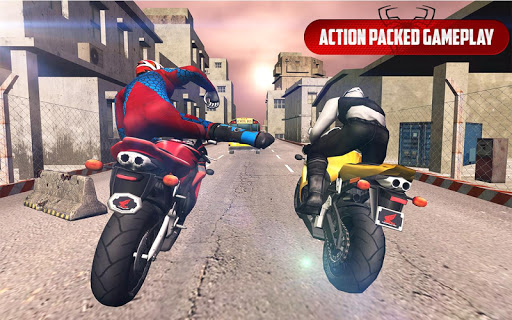 Spider Stunt Rider  Superhero Spider Highway Rider 1.0.2 screenshots 2