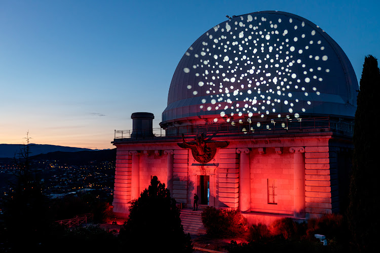 A starry night atop Mont-Gras at the Observatory of Nice