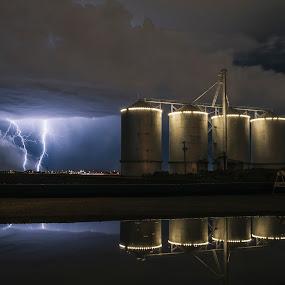    P E R S E V E R A N C E    by Jonathan Stolarski - Landscapes Weather ( gilbert, lightning, az, monsoon, haboob, arizona, dust storm, storm,  )