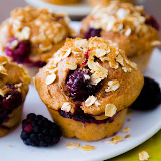 Sky-High Blackberry Apple Muffins