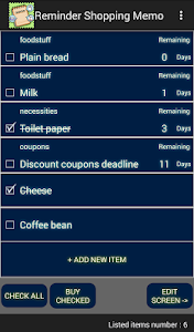 Reminder Shopping Memo screenshot 1
