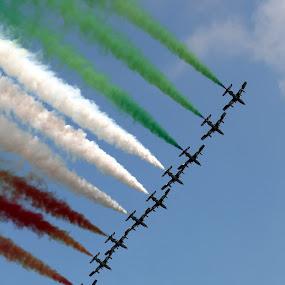 Frecce Tricolori by Ralph Harvey - Transportation Airplanes