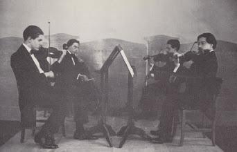 Photo: El Quartet Renaixement (Toldra tenia disset anys) © Family Archive (Mdm. Narcisa Toldrà)