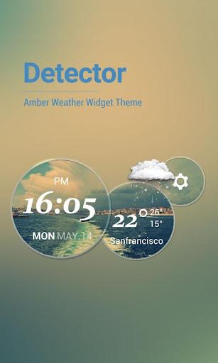 Moto Blur Style Weather Clock