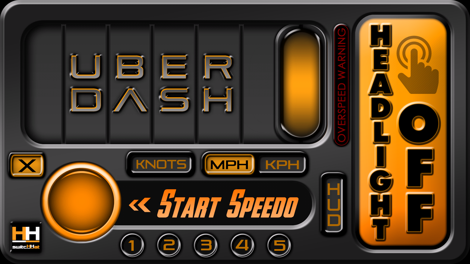 UBERDASH™  Bike/Cycle/Boat HUD- screenshot