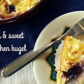 Blueberry & Sweet Cheese Lokshen Kugel