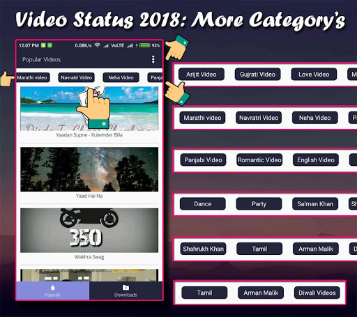 Video status 2018: Whatsaap | Whatsap 1.7 screenshots 2
