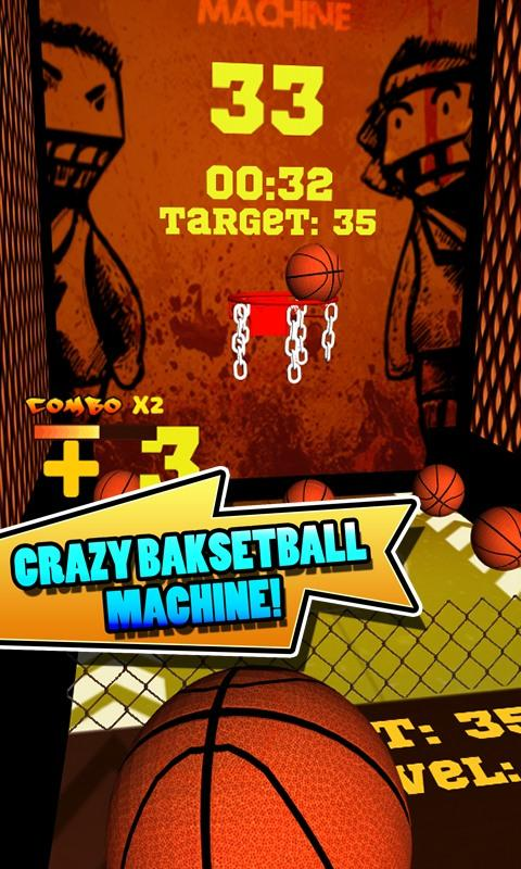 Скриншот Crazy Basketball Machine