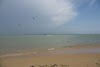 Sri. Lanka Kalpitiya Kiteboarding. Ippantivu Island on a stormy afternoon