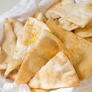 Roasted Garlic Pita Chips.
