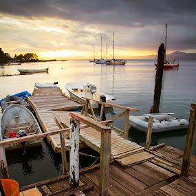 Waitui Marina, SavusavuFiji by Jason Rose - Landscapes Waterscapes
