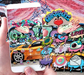 Graffiti Rush Theme Super Car - náhled