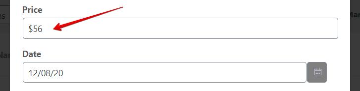 numeric value to configure the data type