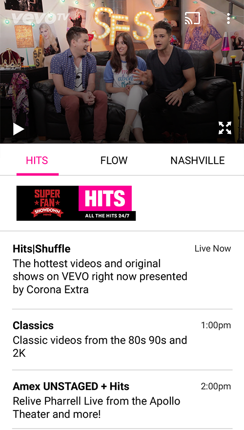 Vevo - Watch HD Music Videos- screenshot