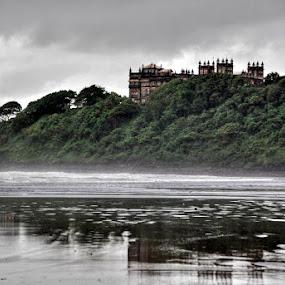 Castle Rock by Aparajita Saha - Backgrounds Nature ( hill, reflection, edge, cliff, murud, cloudy, castle, beach )