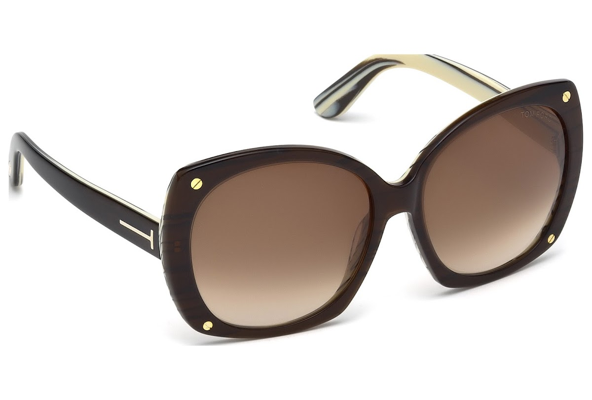 cfeb359cab9a Sunglasses Tom Ford Gabriella FT0362 C59 50F (dark brown other   gradient  brown)