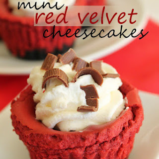 Mini Red Velvet Cheesecakes.